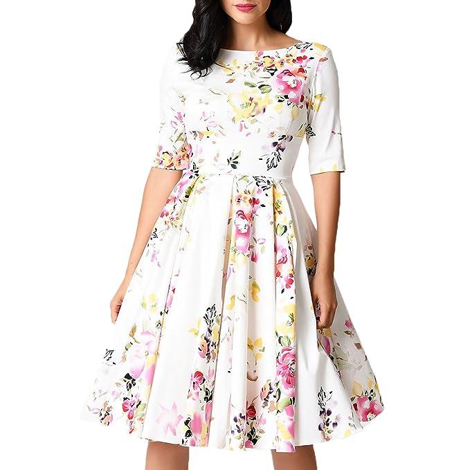 Toocool - Abito donna vestito pinup anni  50 rockabilly fiorato elegante  nuovo DL-2155 5f8937c7970