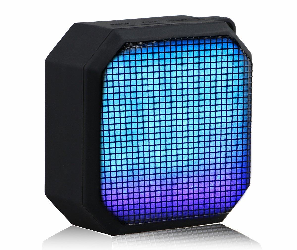 Bvnine Mini Wireless Speaker Portable Outdoor Speaker with LED for Cellphone/MP3/Laptop/iPod/TV