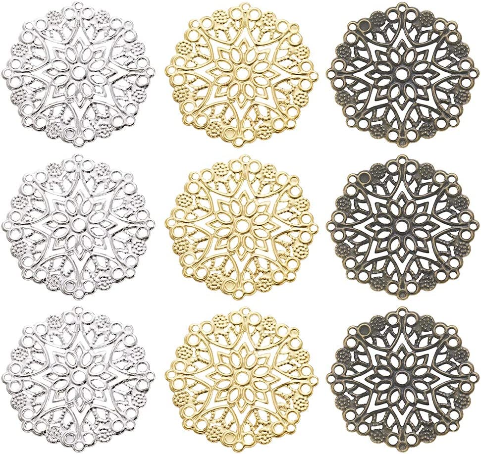 Beadthoven 10pcs Tibetan Style Alloy Drop Shape Chandelier Component Joiners Links with 5 Holes Connector Charms for Earrings Dangle Pendants Jewelry Making Necklace Charms Custom Crafts Supplies
