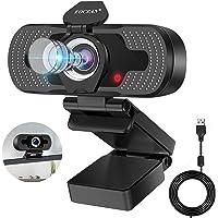 Eocean 1080P HD Webcam Cámara Web con Micrófono y Cubierta de privacidad, 30fps Cámara Web con Computadora de…