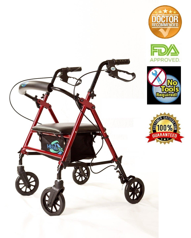 Amazon.com: Andador plegable muy ligero, de aluminio, freno ...