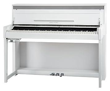 Piano eléctrónico Classic Cantabile UP-1 WM Upright en blanco mate: Amazon.es: Instrumentos musicales