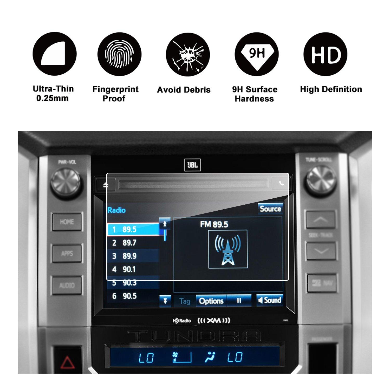 2014-2018 Toyota Tundra 7-Inch Car Navigation Screen Protector, RUIYA HD Clear TEMPERED GLASS Car In-Dash Screen Protective Film