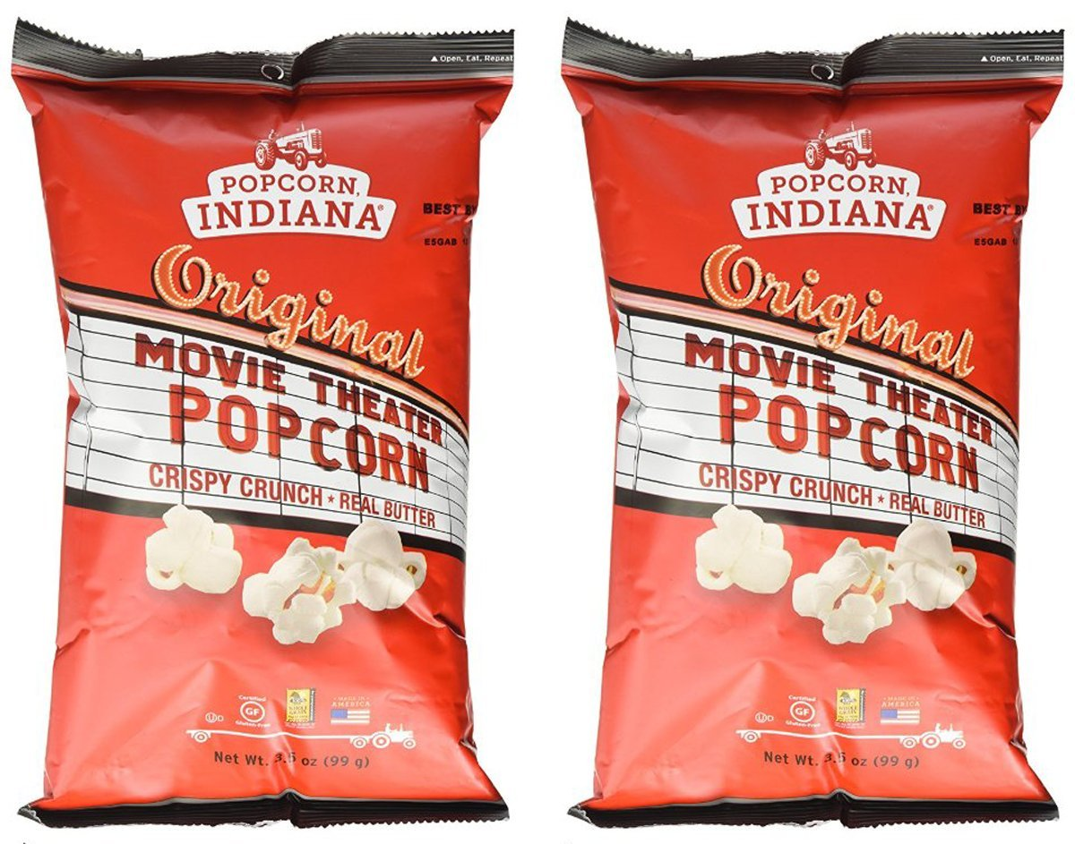 Amazon Com Popcorn Indiana Movie Theater Popcorn 3 5 Oz Pack Of 2 Grocery Gourmet Food