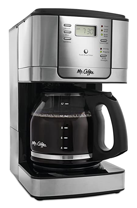 Amazon.com: Mr. Coffee 12 - Cafetera programable (acero ...