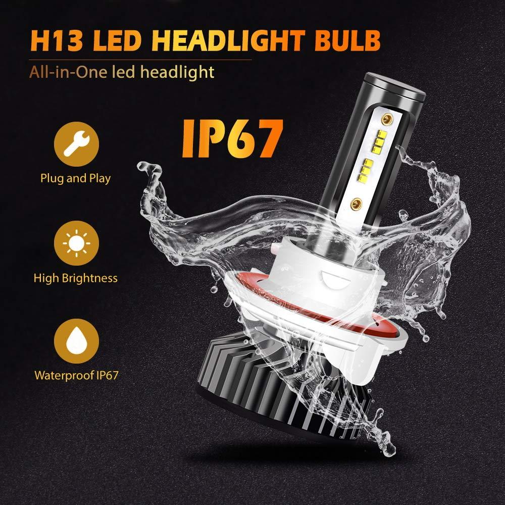 1 Pair not for Daytime Running Lights 3 Year Warranty Infitary LED Headlight Bulbs H13 Conversion Kits High//Low Beam Auto Headlamp Dual Beam Car Headlight 64W 6500K 10000LM Super Bright
