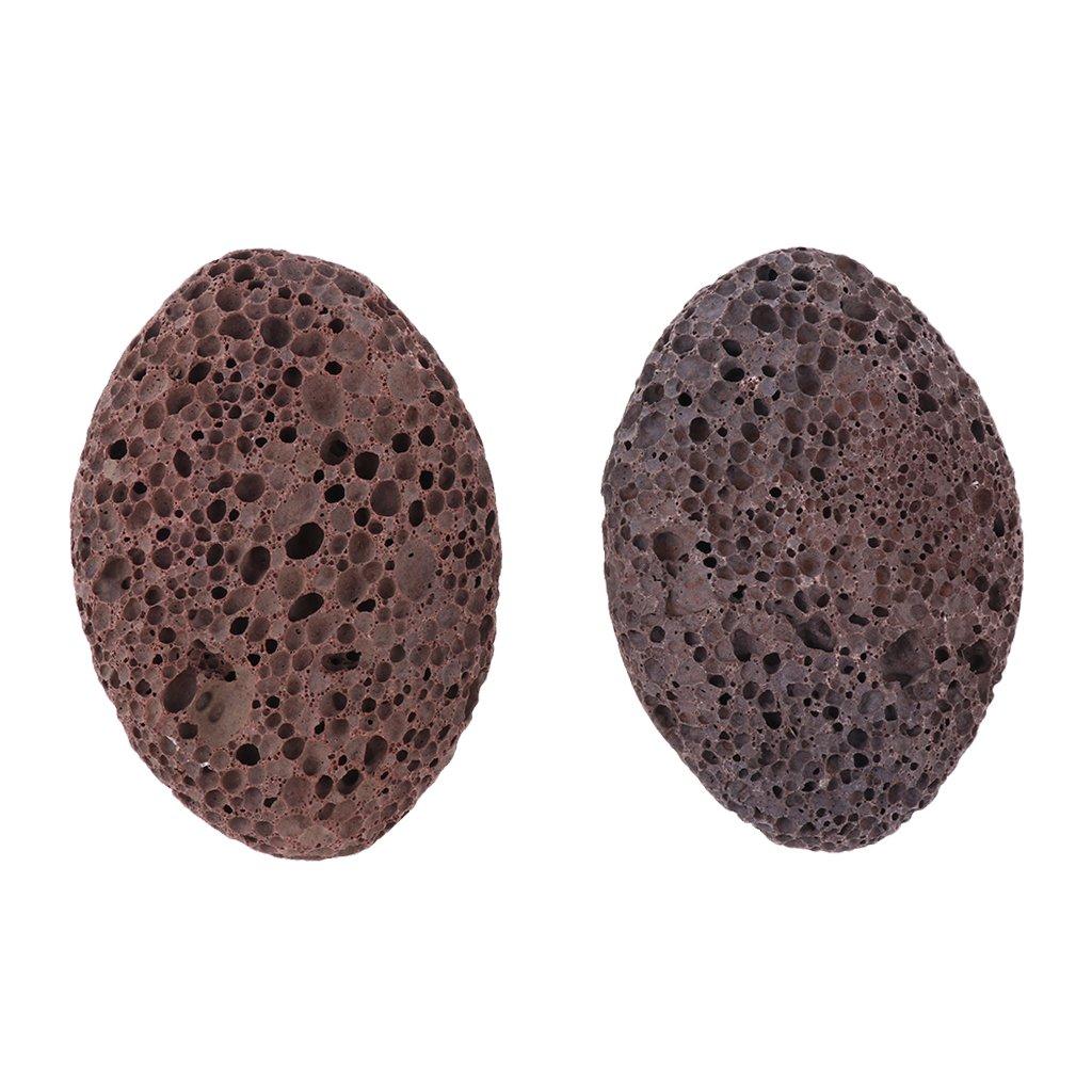 D DOLITY 2x Natural Lava Pumice Stones Foot Scrubber Callus Remover Dead Skin Exfoliation Scrub