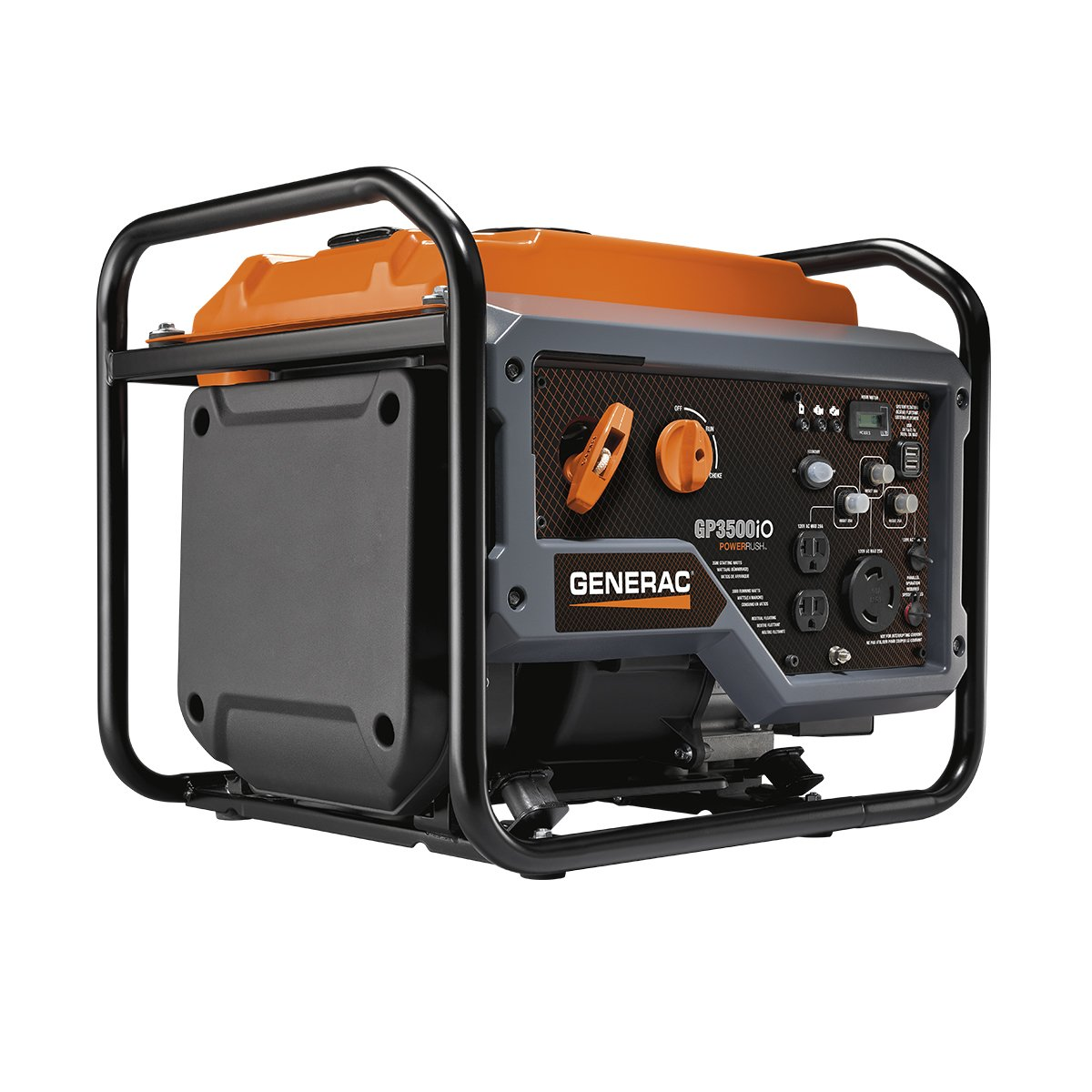 Generac GP3500iO Open Frame RV Ready Inverter Generator – 3500 Starting Watts with PowerRush Technology