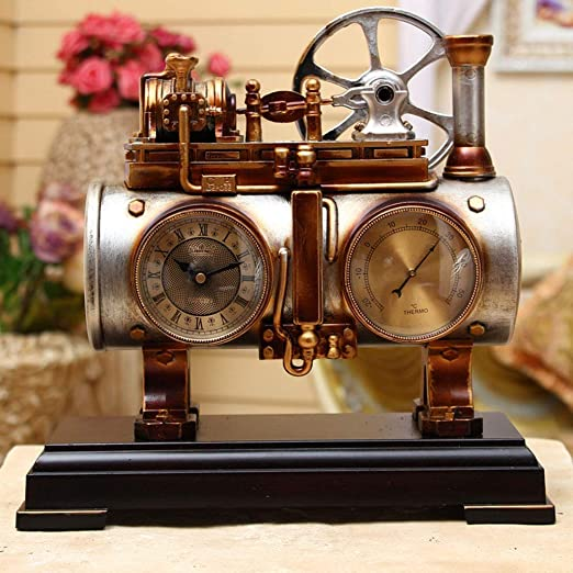 GQZB Retro Train Styling Reloj de mesa Decoraciones reloj ...