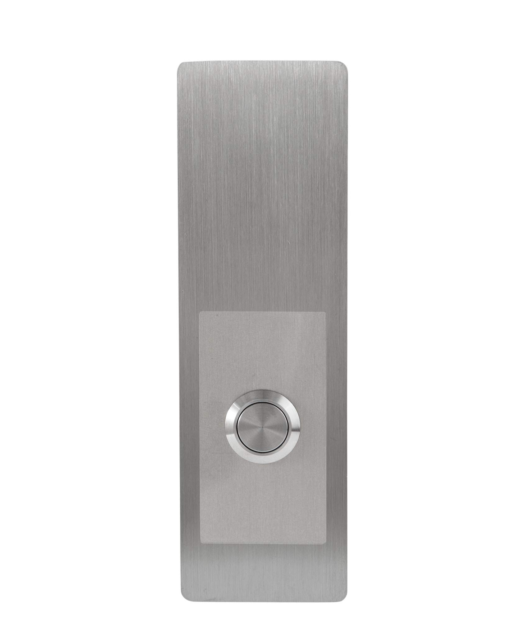 """Modern Stainless Hardware Model R5 Stainless Steel Doorbell Button in 304 Stainless Steel 1.57"""" x 5.11"""" x 5/32"""" (4mm thick)"""