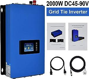 ECO-WORTHY 2000W 2KW LCD Display MPPT Solar Grid Tie Inverter Power Limiter PV System DC 45-90V to AC185-265V