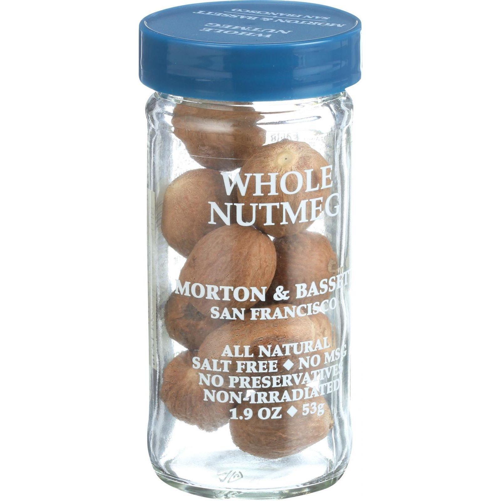 Morton and Bassett Seasoning - Nutmeg - Whole - 2.2 oz - Case of 3 by Morton & Bassett (Image #1)