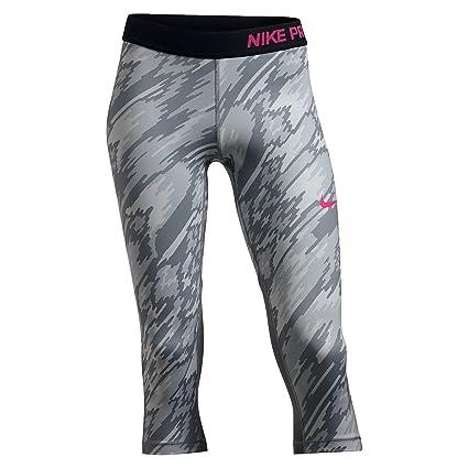 72ba5fe2d Amazon.com : Nike Kids Pro Cool Printed Training Capri Little Kids/Big Kids  Pure Platinum/Cool Grey/Black/Vivid Pink Girl's Casual Pants : Everything  Else