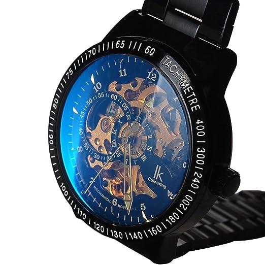 ibay wish gift IK-06 GZIE-06 - Reloj para hombres, correa de acero inoxidable: Amazon.es: Relojes