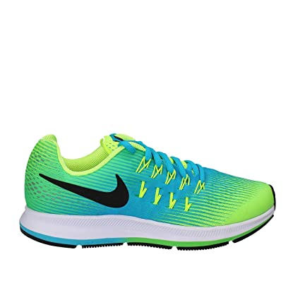 super popular 0de52 d4436 Nike Kids Zoom Pegasus 33 Little Kid/Big Kid Volt/Black/Chlorine Blue/Rage  Green Boys Shoes
