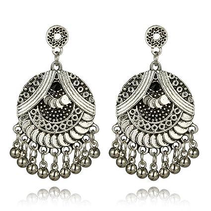 301b7b983 Women Girls Retro Stud Earrings Fashion Ethnic Tassel Holiday Party Prom  Long Drop Earrings Jewelry (