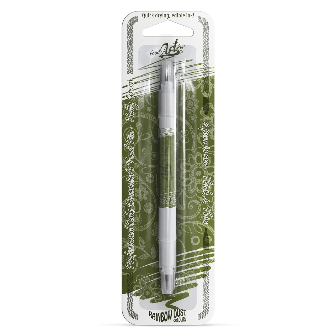 Holly Ivy Green Edible Food Pen for Cake Decorating