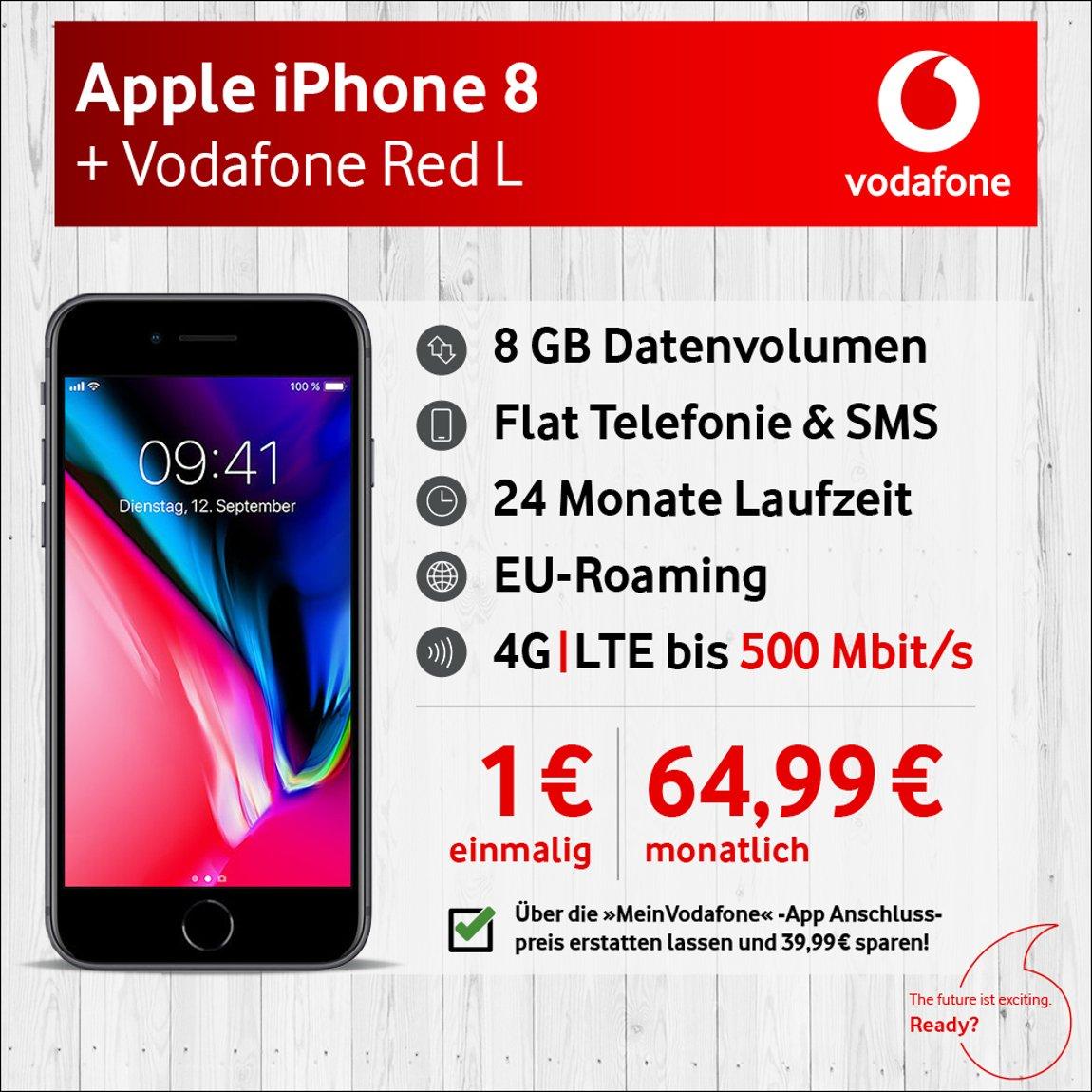 Apple IPhone 8 Mit 64GB Internem Speicher Vodafone Red Amazonde Elektronik