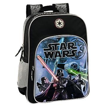 Star Wars Mochila Escolar Adaptable a Carro, Color Negro, 19.2 litros: Amazon.es: Equipaje