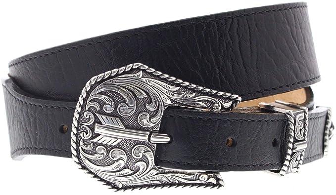 40e3557f4aa7bf FB Fashion Boots Justin Belts Unisex Gürtel C13743 Westerngürtel  Ledergürtel Schwarz 100 Zentimeter