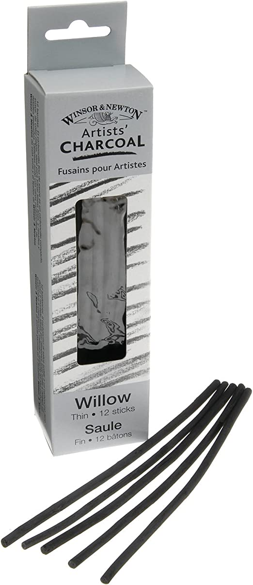 Pack of 2 Winsor /& Newton Artists Charcoal Vine Soft Box of 12