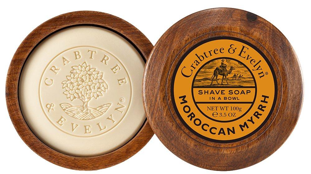Crabtree & Evelyn marroquí Mirra afeitado Jabón en madera Tazón 100 g 80141