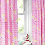 Fairy Tale Dreams Pink Hearts 66X54 Pencil Pleat Fully Lined Curtains EXCLUSIVE