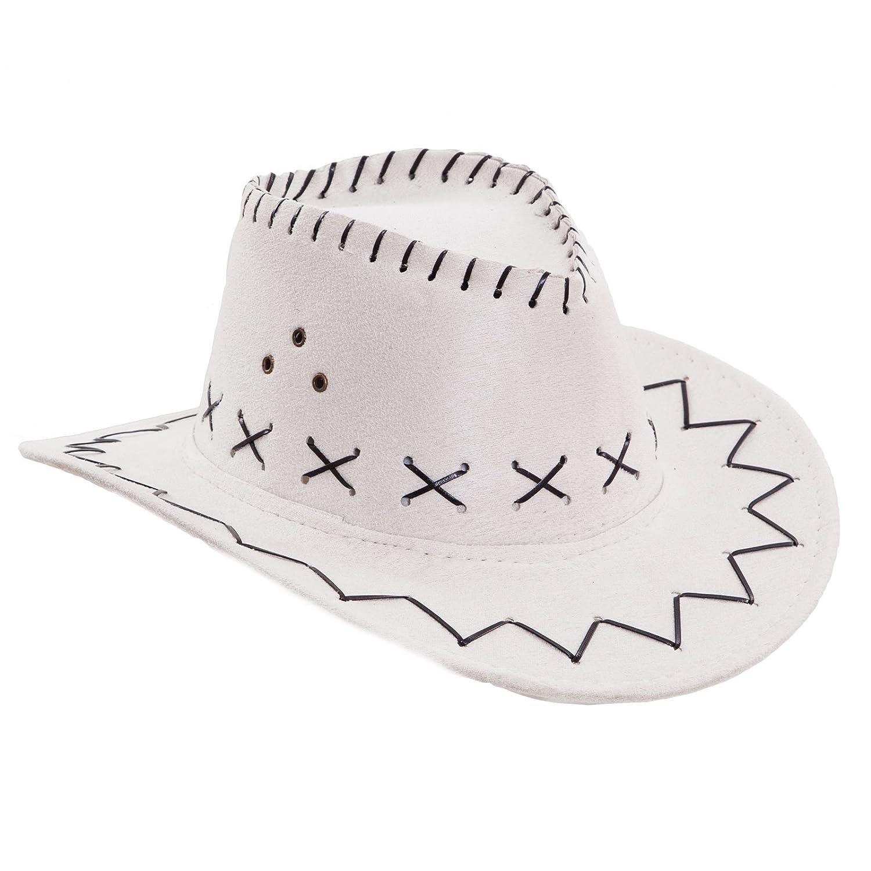 Toocool - Cappello bambino bambina bimbi COWBOY scamosciato carnevale festa  party HUT9   Taglia unica db3f2ec10980