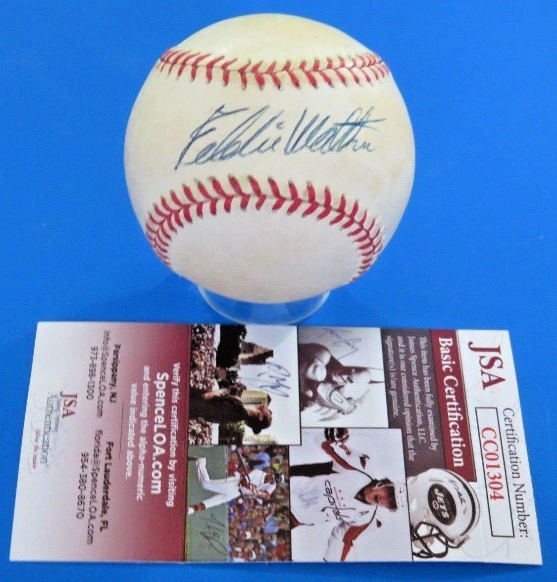Eddie Mathews Autographed Signed Ron Baseball Autographed Signed Ball JSA Authentic Cc01304