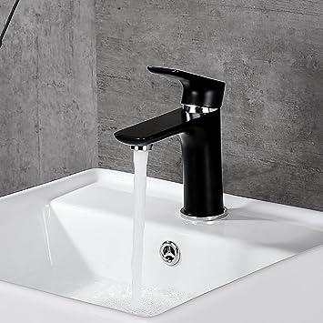 Desfau Schwarz Wasserhahn Waschbecken Armatur Waschtischarmatur