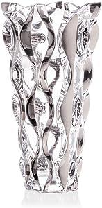 Decorative Crystal Glass Silver Flower VASE, 12