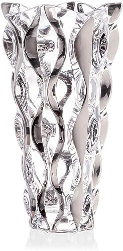 Decorative Crystal Glass Silver Flower VASE