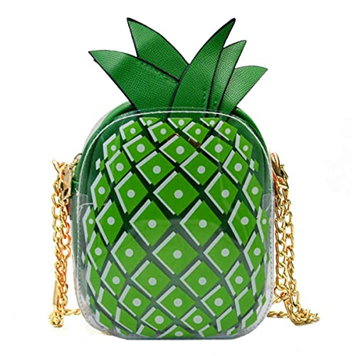 b01b7e7c47c4 Sherry Pineapple Purse Women Fruit Shaped Leather Shoulder Bag Cute Mini  Cross Body Handbag Green