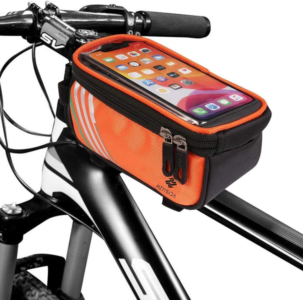 Nylon Fahrrad Vorderrohr Rahmen Tasche Scooter Lenker Kamera Handy-Tasche