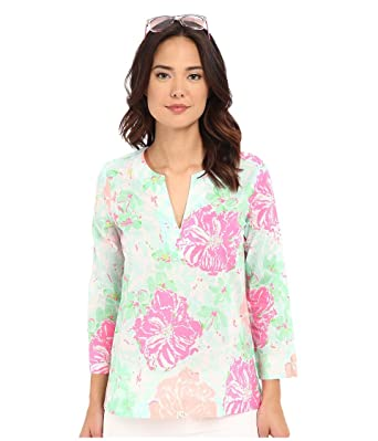 4032cc11c4b02a Lilly Pulitzer Women's Amelia Island Tunic Beach Walk, Poolside Blue, X- Small at Amazon Women's Clothing store: