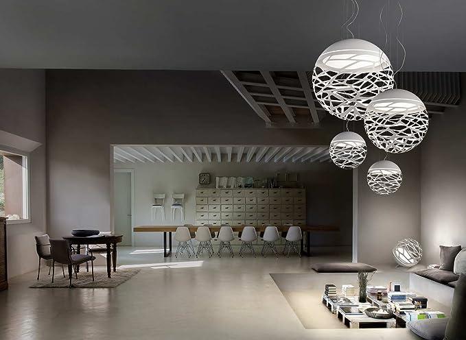Lampadario Bianco Opaco : Studio italia lampadario kelly bianco opaco realizzato a mano