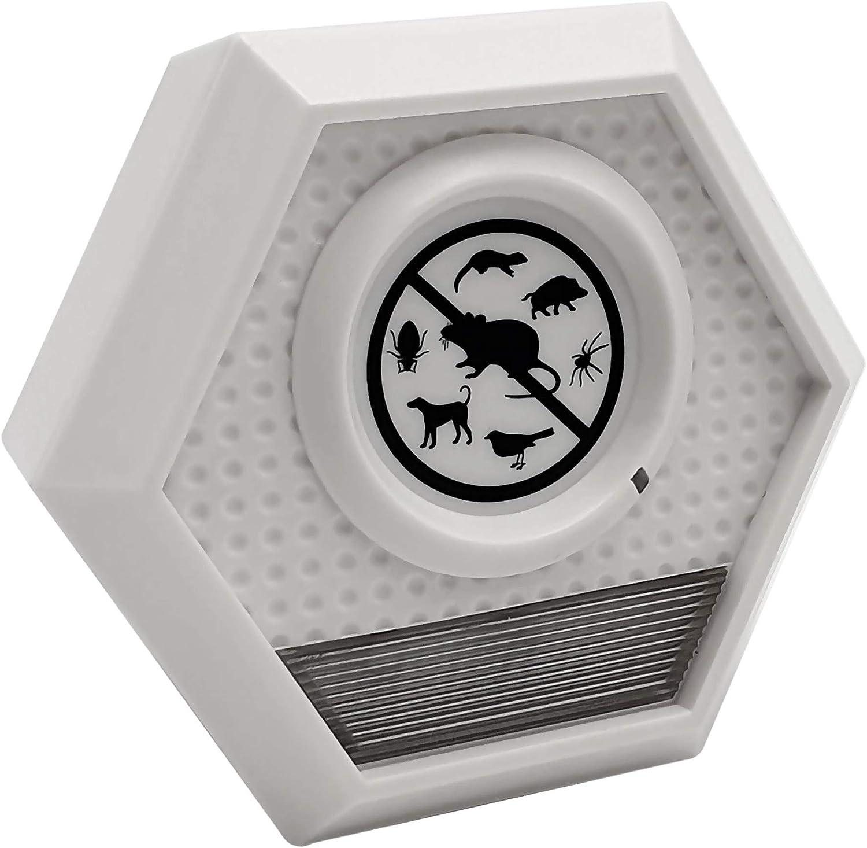 ISOTRONIC Repelente de animales con Ultrasonido - Defensa contra palomas aves animales mapaches