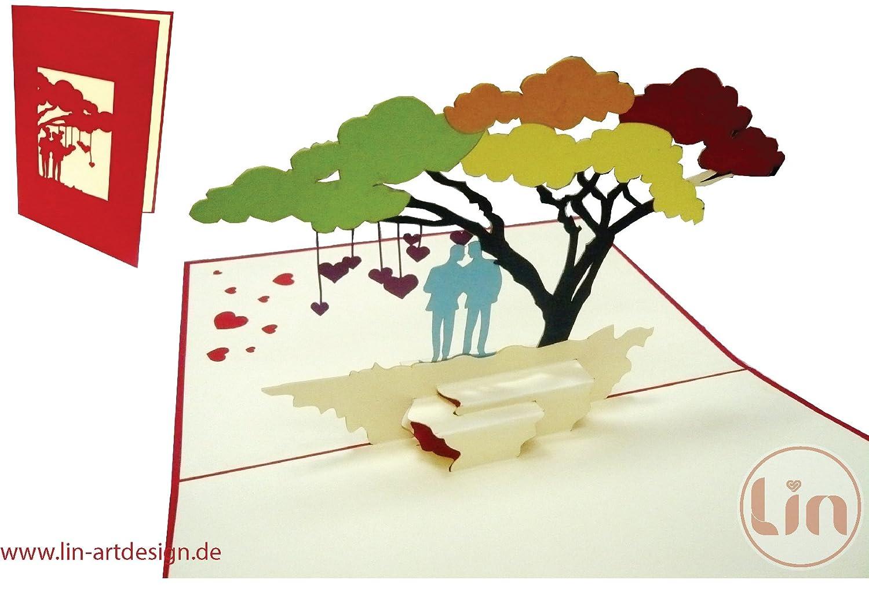 n. 208 matrimonio carte gleichgeschlechtliches Coppia /Pop Up; biglietto d auguri Carte di nozze omosessuali; carte di nozze matrimonio inviti gleichgeschlechtige matrimonio LIN/