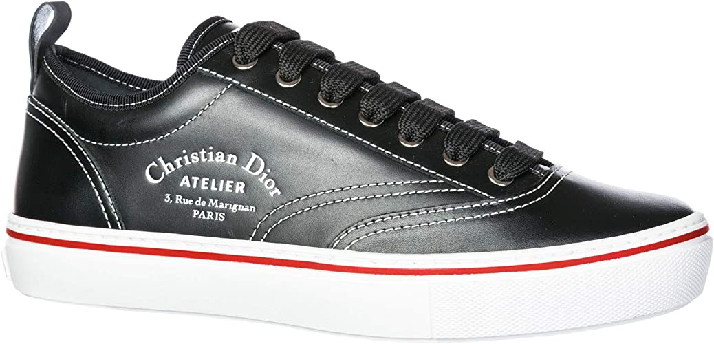 Shoes Leather Trainers Sneakers Black