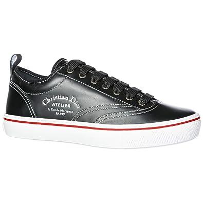 Dior Chaussures Baskets Sneakers Homme en Cuir Noir EU 42 3SN229YAL ... 56fc7808dc4