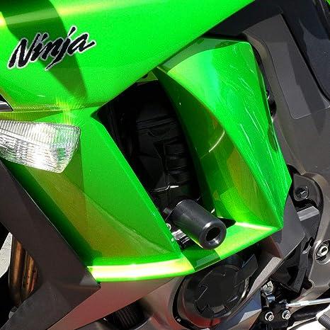 Shogun Kawasaki Ninja 1000 2011 2012 2013 2014 2015 2016 Black No Cut Frame Sliders - 750-4819 - MADE IN THE USA