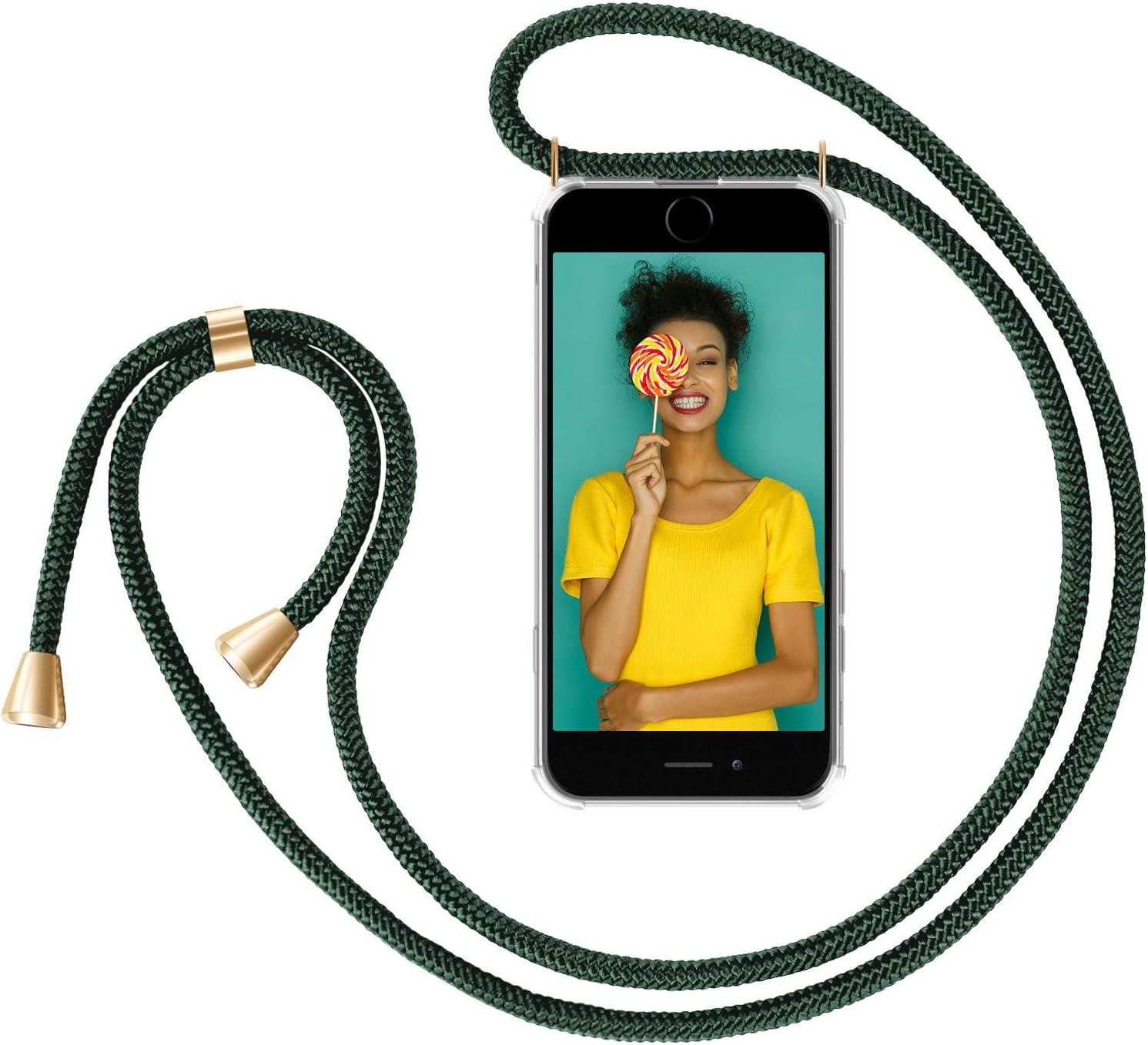 Noir R/éfl/échissant Coque pour Smartphone ZhinkArts Collier pour Apple iPhone 7 Plus // 8 Plus /Ètuis /à Bandouli/ère 5,5 Display /Étui de T/él/éphone avec Cordon