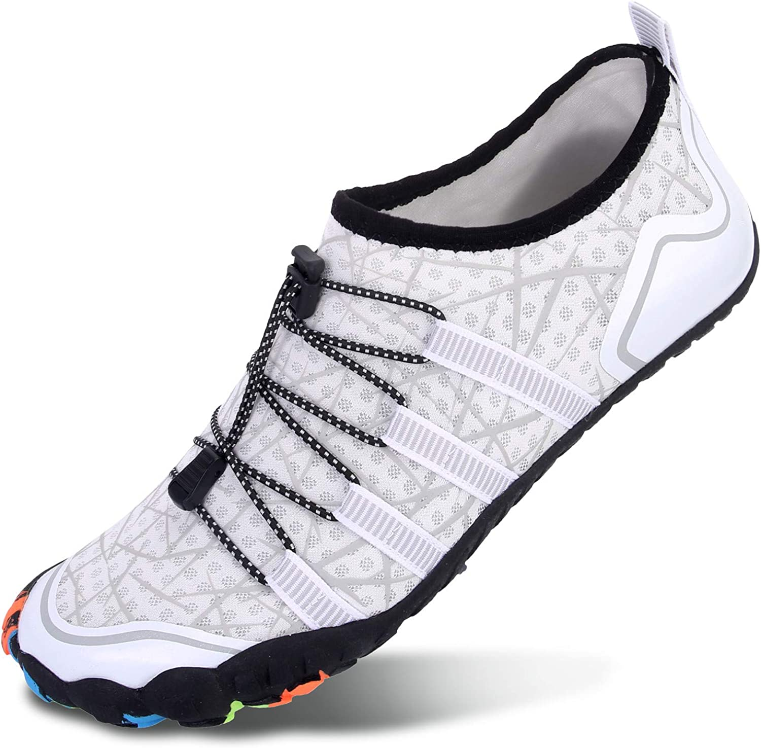 L-RUN Athletic Hiking Water Shoes Mens Womens Barefoot Aqua Swim Walking Shoe