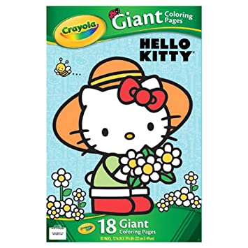 Amazon Com Crayola Hello Kitty Giant Coloring Pages Toys Games
