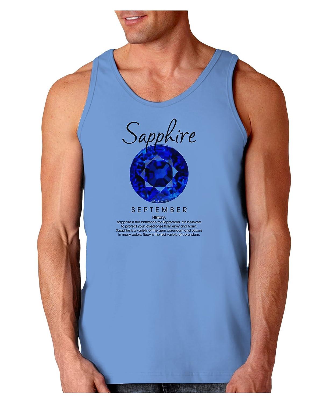 TOOLOUD Birthstone Sapphire Loose Tank Top