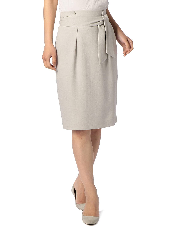 (ノーリーズ) NOLLEY'S ストレッチスラブリボンスカート 8-0035-2-06-003 B07BTSTCP9  ライトグレー 36