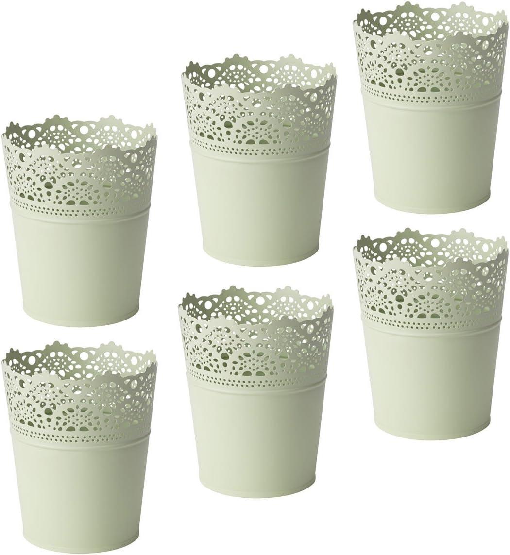 6 x IKEA Skurar – Maceta verde claro, 10, 5 cm flores plantas de ...