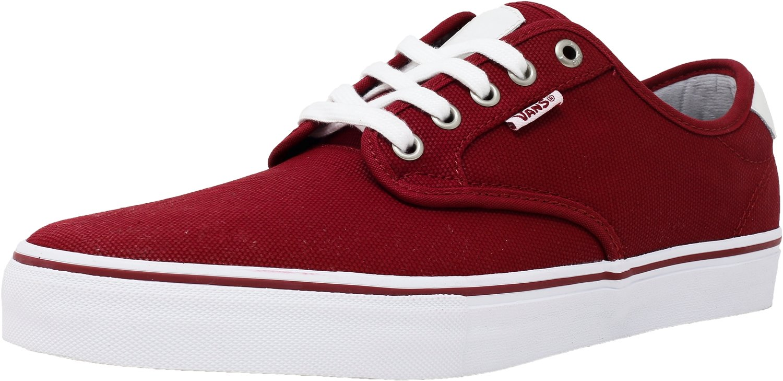 Vans M Chima Ferguson  Herren Sneaker  Weiß waxed canvas red dahlia