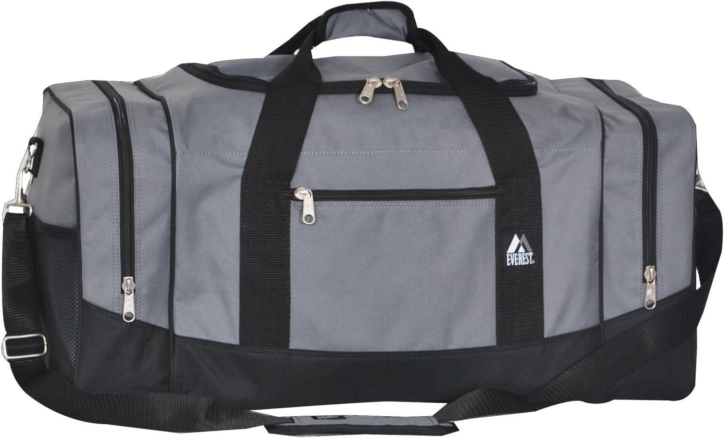 Dark Gray//Black Everest Gym Bag with Wet Pocket