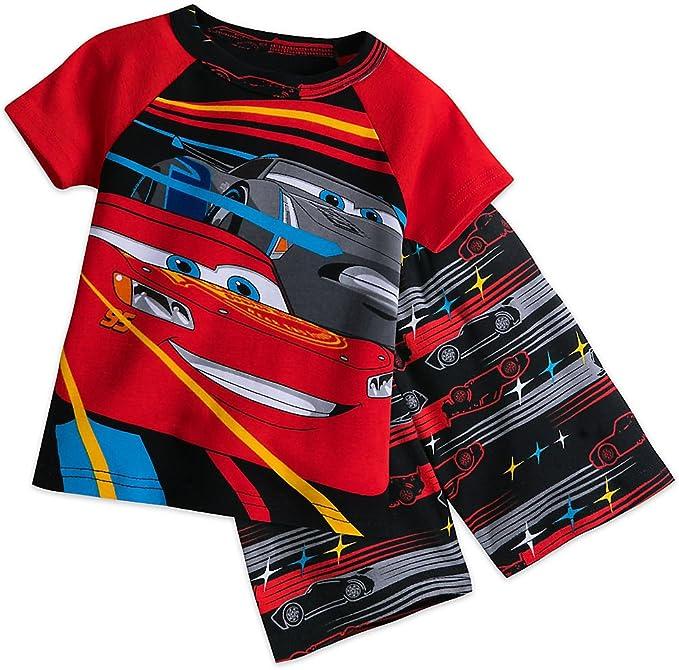 DISNEY CARS sz 3 4 6 8 Lightning McQueen Winter PJs BOYS Long PYJAMAS New